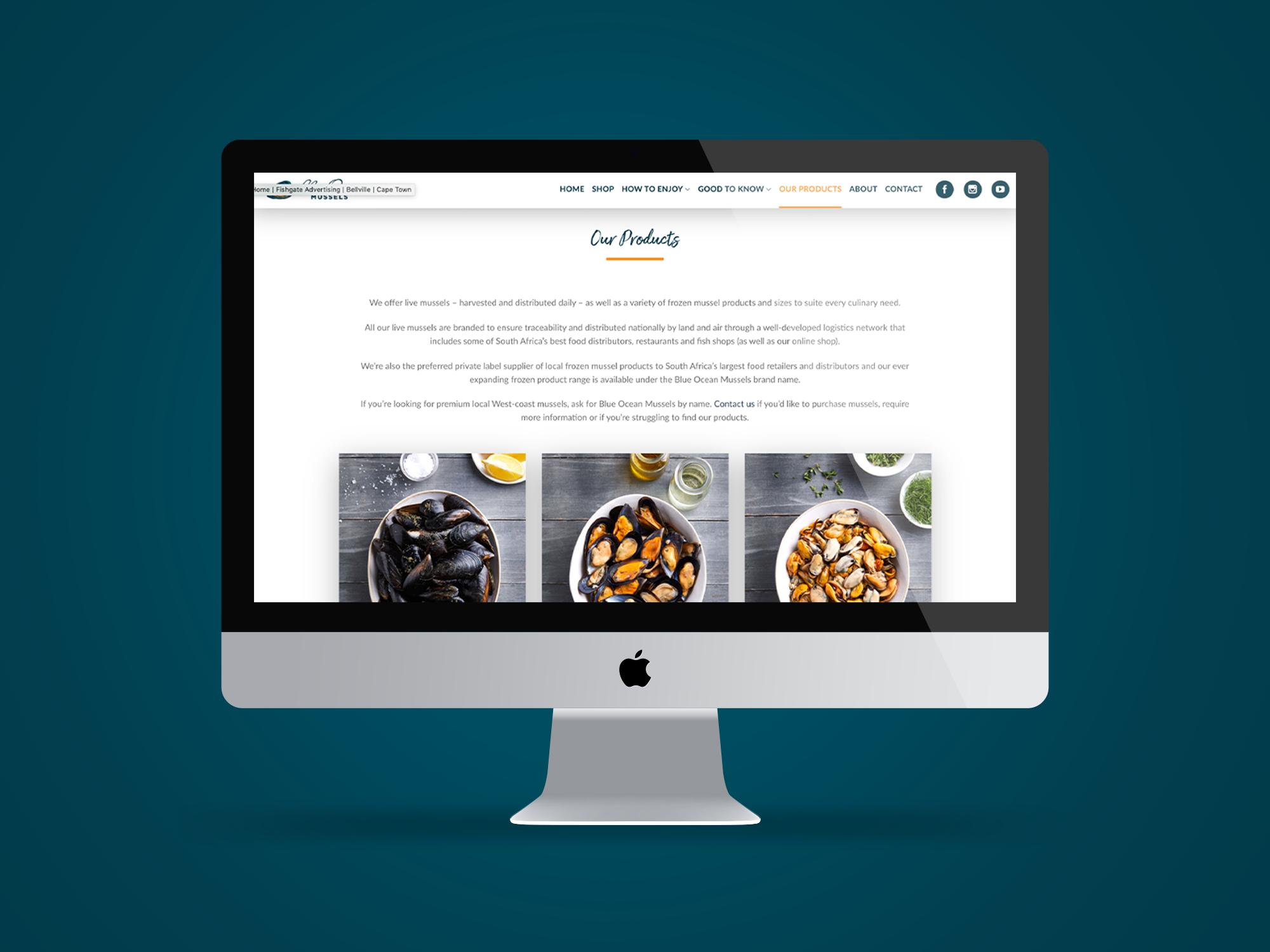 Website – Blue Ocean Mussels
